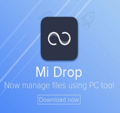 آموزش انتقال فایل با Mi Drop