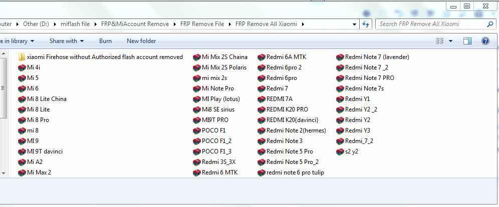 حذف کامل اکانت شیائومی بوسیله فایل حذف FRP