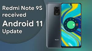 دانلود اندروید 11 برای شیائومی Redmi Note 9s